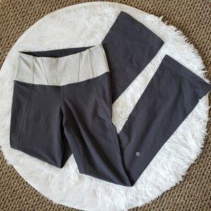 Lululemon Gray High Waisted Flare Groove Pants, 4